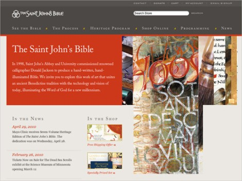 Website The Saint John's Bible.