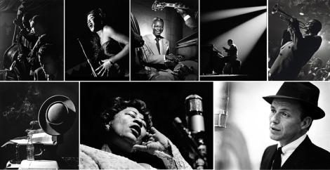A técnica de Herman Leonard capta com precisão a atmosfera escura e esfumaçada dos clubes, mesclada ao insights dos músicos, devidamente registrados em suas fotografias.