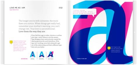 Página de Meet your type, da Font Shop