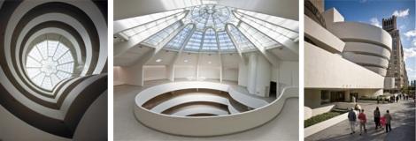 Museu Guggenheim em NY, 3 pontos de vista.