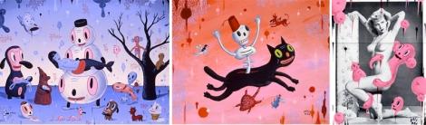 Algumas pinturas de Baseman.