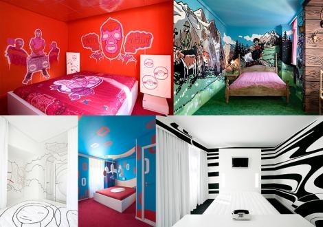 Fotos dos quartos do Hotel Fox, em Copenhagen.