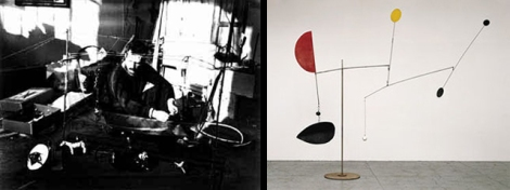 1. Cirque Calder, 1926-1931; 2. Steel Fish, 1934, de Alexander Calder.