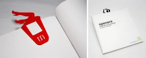 Openers, marcadores de livro provocativos, vendidos na PoundShop em Londres, chamam o leitor de volta ao livro. Fabricados em polipropileno, cortados a laser.