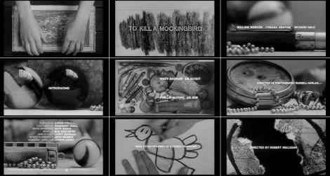 Stills da sequência de títulos do filme O Sol é para Todos, de 1962.