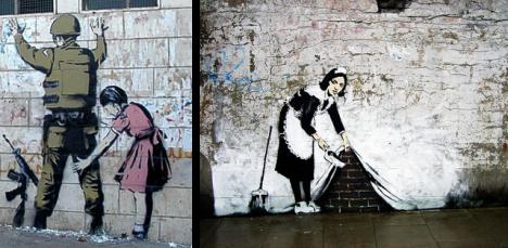 Algumas das imagens de Banksy.