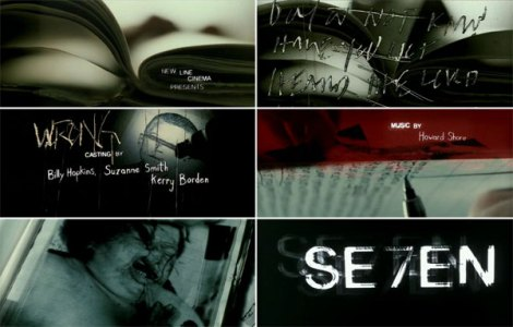 A sequência de Se7en, de 1995, por Kyle Cooper.