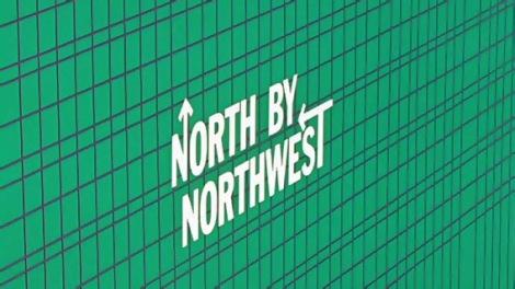 O still da sequência criada por Saul Bass para o filme North by Nothwest, seu primeiro projeto com o diretor Alfred Hitchcock.