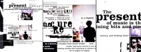 A tipografia descontruída e retorcida de Carson nas páginas da revista Ray Gun.