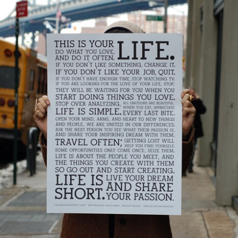 Poster Manifesto da Holstee.