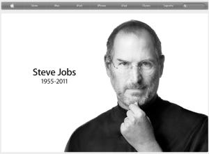 Homenagem em site da Apple.