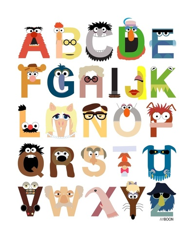 Muppet Alphabet por Mike Boon.